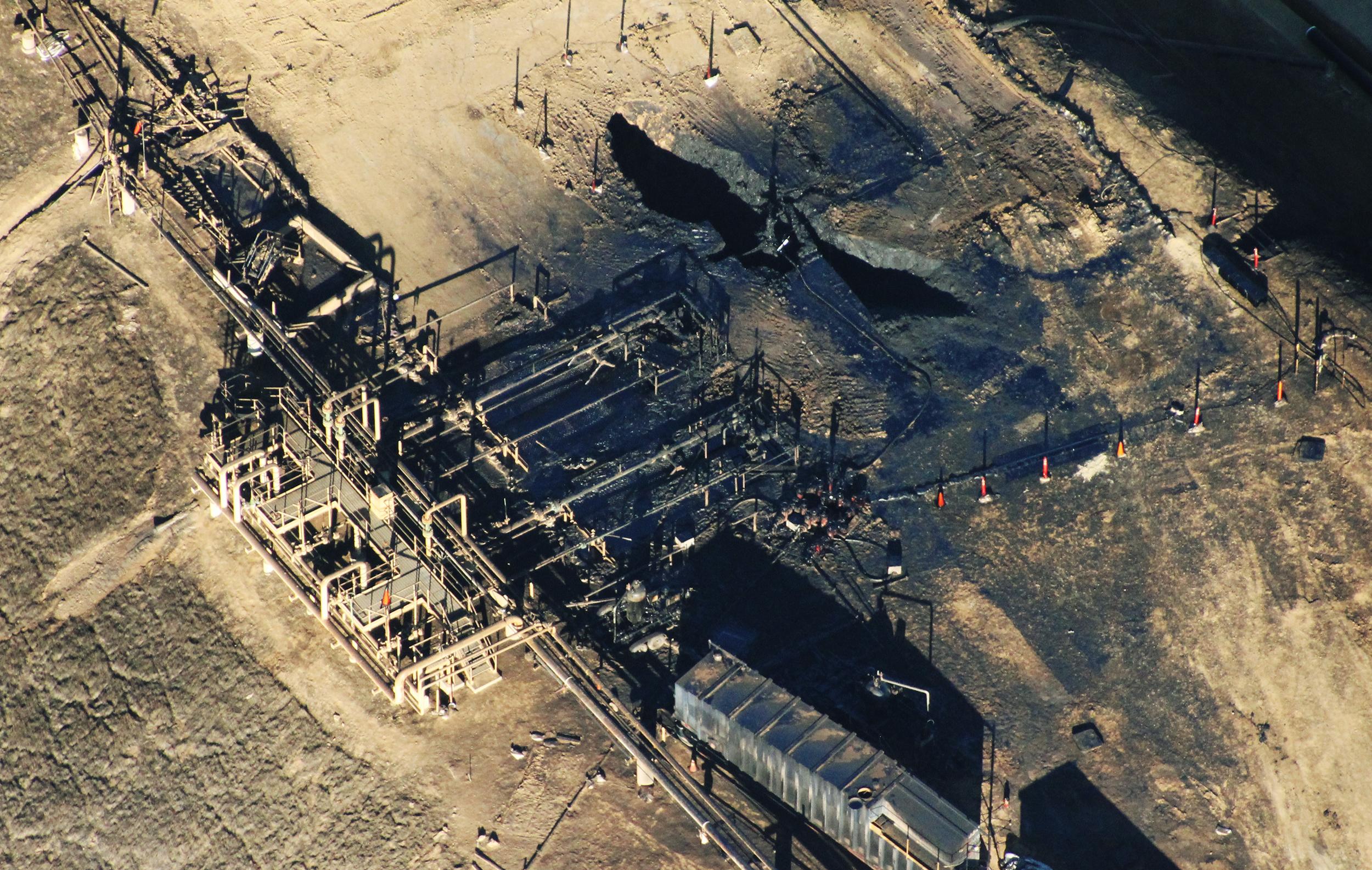 Methane leak explosion
