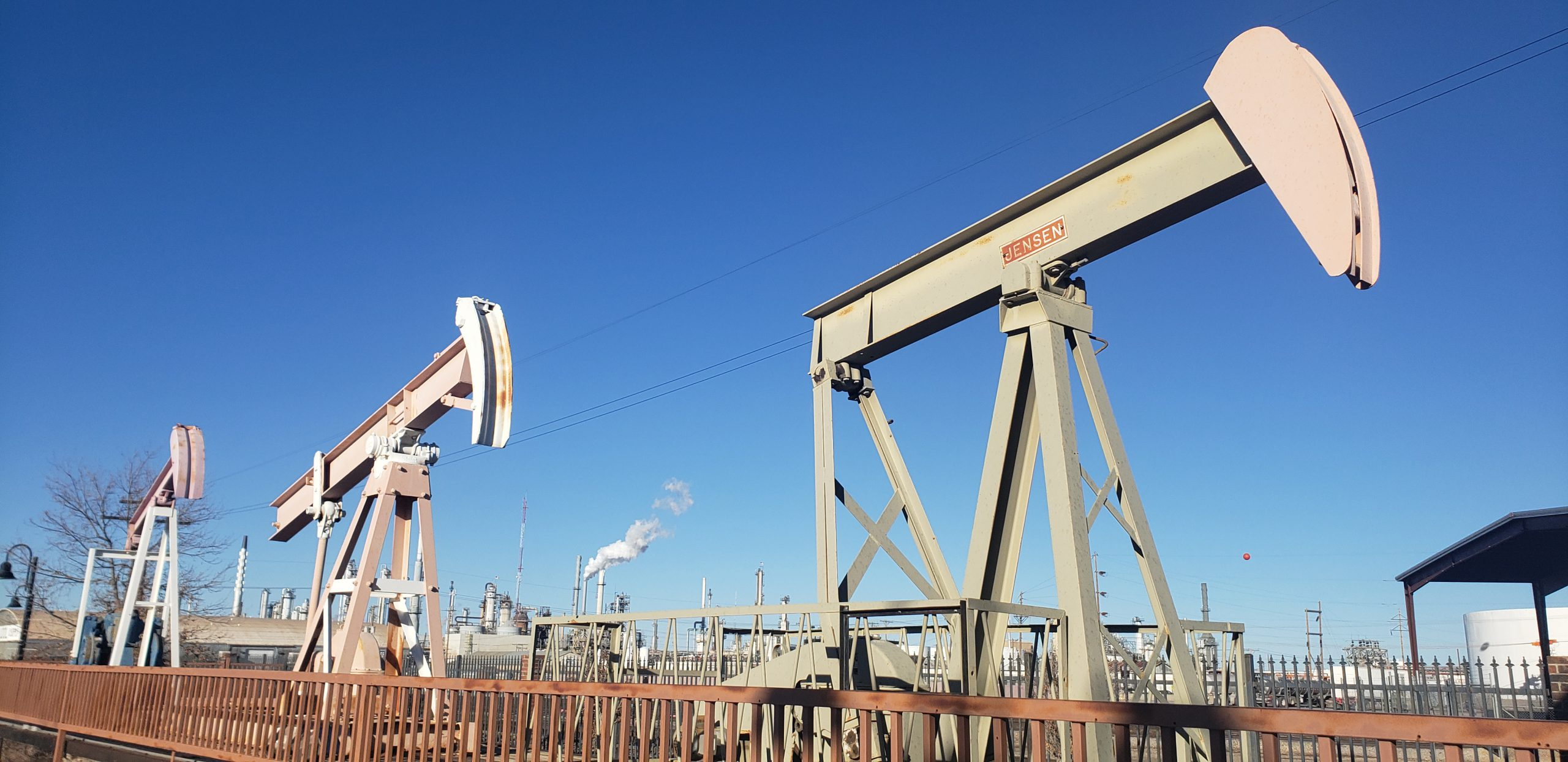 decommissioned pumpjacks