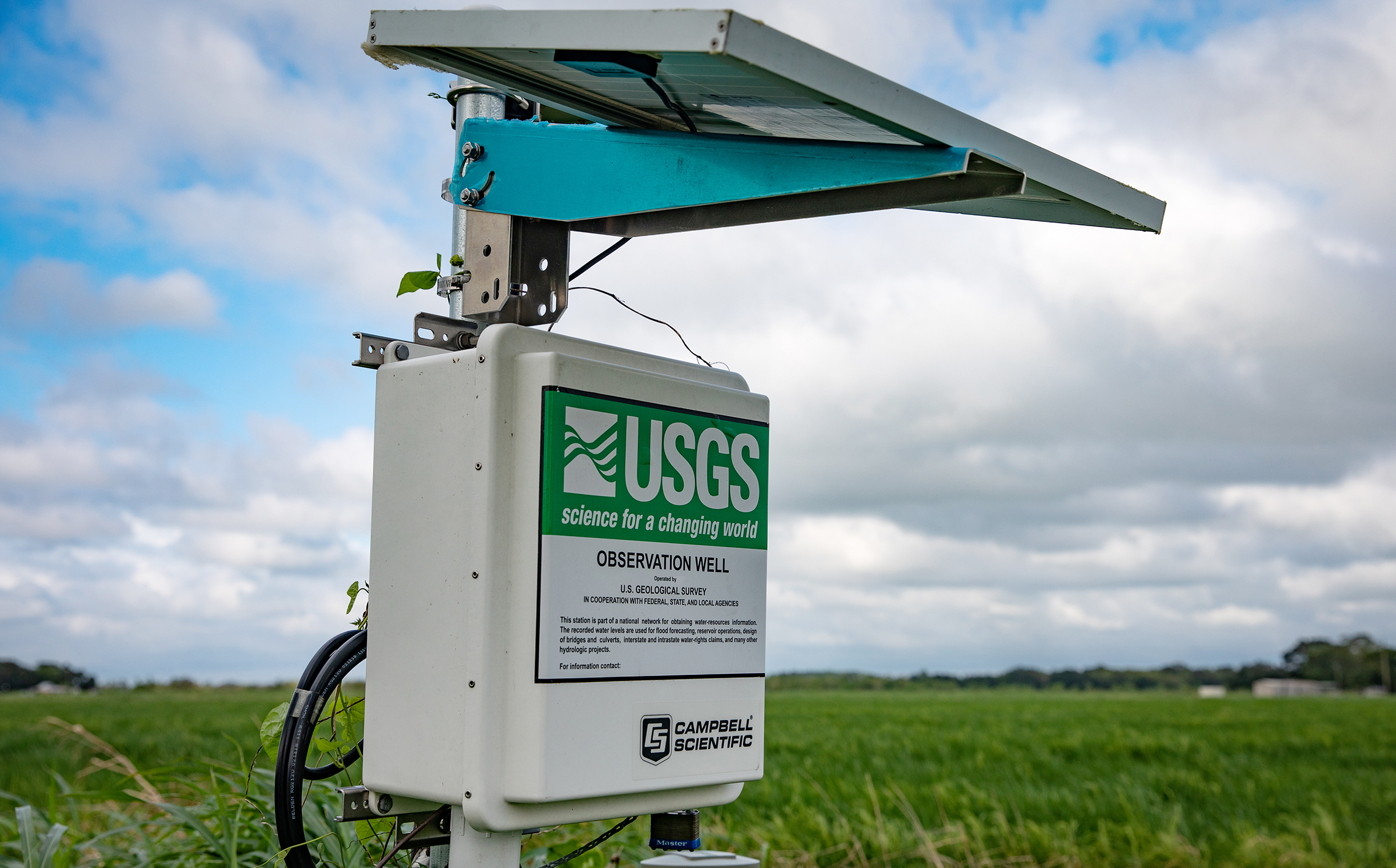 Machinery to monitor wells in a field