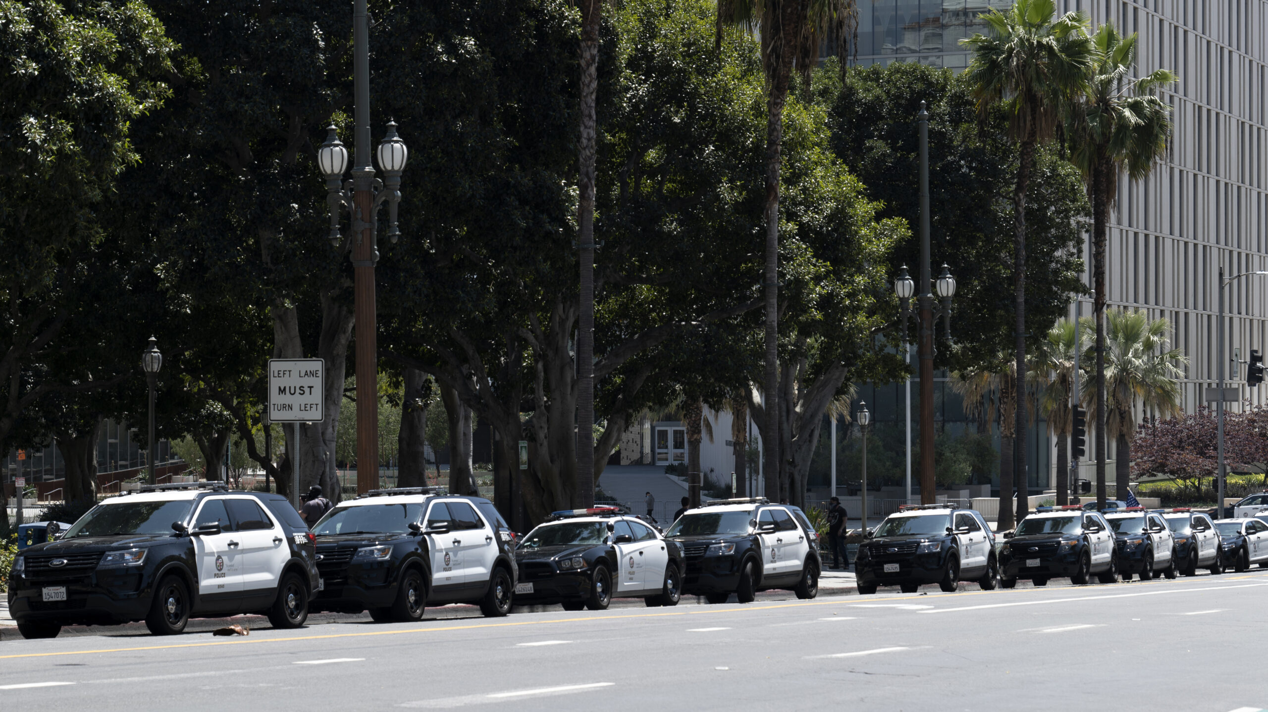 LAPD police cars